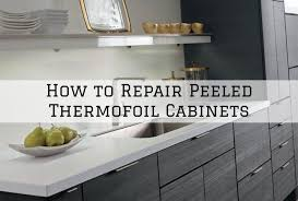 ikea kitchen cabinet doors peeling how to repair peeled thermofoil cabinets in sherwood oregon