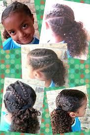 cute short hairstyles for bi racial hair triple french braid side pony girls hairstyle easy braids