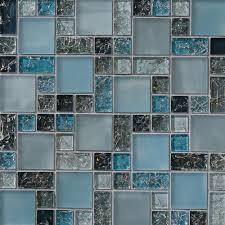 Blue Glass Tile Kitchen Backsplash Sample Blue Crackle Glass Mosaic Tile Backsplash Kitchen