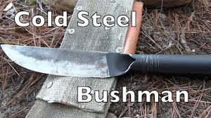 Cold Steel Kitchen Knives Review Cold Steel Bushman Review 2017 Youtube