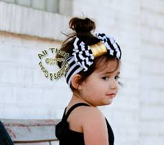 baby girl headbands and bows black white and gold striped big bow baby headbands