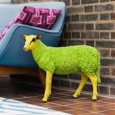 decorative pop art sheep figurine i love retro