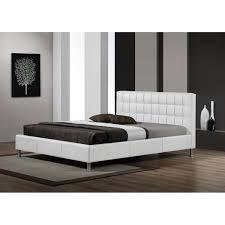 chambre 180x200 lit design maxi simili cuir blanc sommier 180x200 achat vente