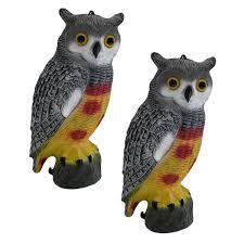 Pack Of Decorative Decoy Owls Pisces