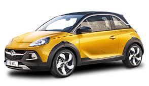 opel adam yellow yellow vauxhall adam rocks car png image pngpix