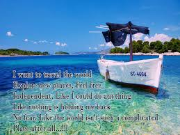Travel short poem by famous author with wallpaper poetry likers
