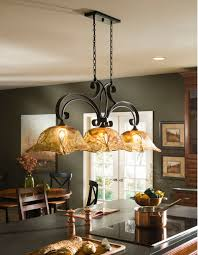 Vetraio Oil Rubbed Bronze Kitchen Island Light Toffee Art Glass By