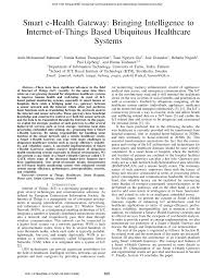 smart e health gateway bringing intelligence to internet of