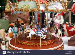 christmas carousel christmas carousel seasonal decoration stock photo royalty free