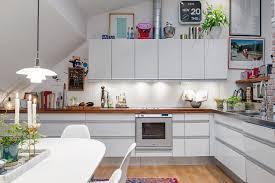 attic kitchen ideas attic apartment in the scandinavian style