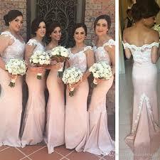 light bridesmaid dresses light pink mermaid bridesmaids dresses cap sleeve 2017