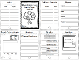 the teaching oasis thanksgiving text features booklet
