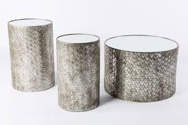 Drum Accent Table Table Winning Tee Silver Accent Tables Bella Acento Drum Silver