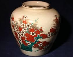 Japanese Kutani Vases Japanese Kutani Etsy