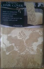 maytex damask dining room chair covers sold in set of 4 ivory or