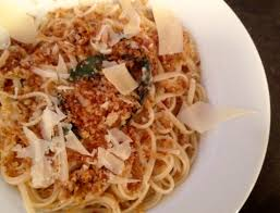 pasta dishes linguine with lemon walnuts crispy sage and brown butter crumbs