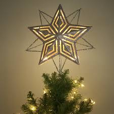 swarovski home decor home decor silver star tree toppers with swarovski crystal for