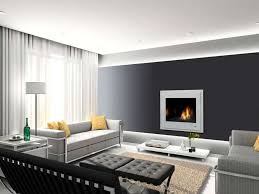 living room black accent wall with white curtain for amazing