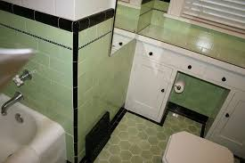 lime green tile bathroom bathroom tile pinterest 1930s