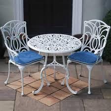 Aluminium Bistro Chairs Leisuregrow Norfolk White Cast Aluminium Bistro Set