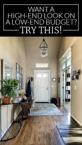 get a high end look for less entryway makeover budgeting