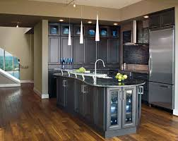 Dark Gray Kitchen Cabinets by Kitchen Paint Colors With Dark Wood Cabinets All About House