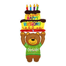 birthday bears delivered betallic shape 60 inch special delivery birthday from