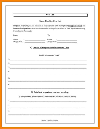 handover note letter of resignation weeks notice template