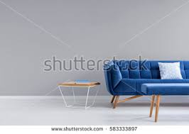 room blue sofa bench metal wood stock photo 573390727 shutterstock