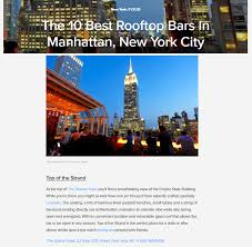 Top 10 Rooftop Bars New York Top Of The Strand