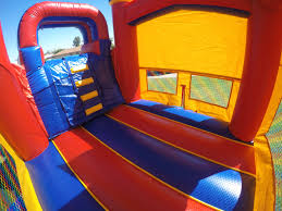 halloween bounce house rentals awesome red yellow blue combo bounce house slide with bumper can