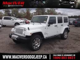 2015 white jeep wrangler unlimited newmarket ontario