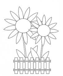 Easter Flower Coloring Pages - coloring cartoon spring face free spring clip art u2013 flowers