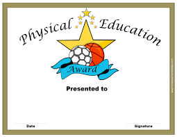 Free Printable Halloween Certificates by Physical Education Awards And Certificates Free