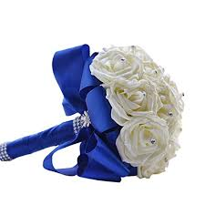 Royal Blue Boutonniere Boutonniere Royal Blue Rose Boutonniere With Pin For Prom Party