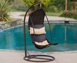 Trully Outdoor Wicker Swing Chair by Brown Wicker Hanging Swing Chair Gadget Flow
