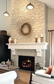 painting rock fireplace ideas stone white painted fireplaces