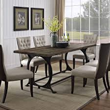 Wrought Iron Kitchen Table Dining Rooms Excellent Room Sets Industrial Cast Iron Dining