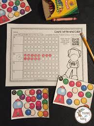 gumball math kindergarten stations teaching with nancy