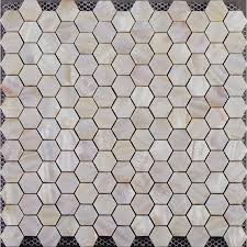 Hexagon Mosaic Mother Of Pearl Tiles Backsplash Cheap Bathroom - Shower backsplash