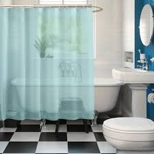 India Shower Curtain Blue Color Buy Premium Ring Rod Bathroom Shower Curtains
