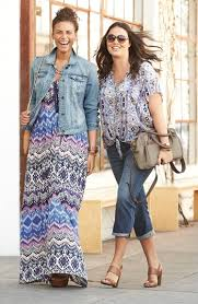 the maxi dress with jean jacket what to wear over 40