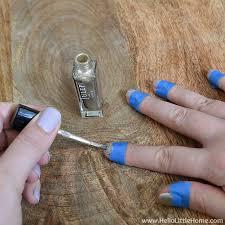easy wide stripe nail art tutorial