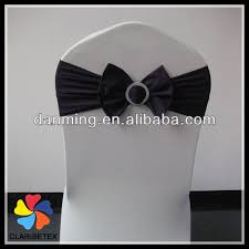 Bows For Chairs New Arrival Dark Gray Silver Spandex Chair Bow For Wedding Chair