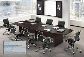 5 foot conference table 18 foot modern boat shaped conference table with grommets 5 laminate