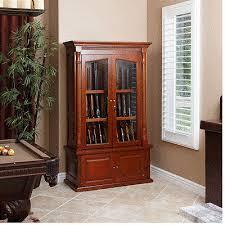 Wood Gun Cabinet Wood Gun Cabinet Walnut 12 Gun Display Case Locking Glass Doors