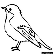 bird coloring eco garden