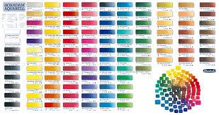 schmincke horadam watercolour paint colour chart from broad canvas