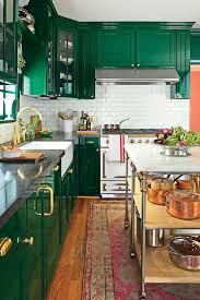 inspiring green kitchen cabinets high gloss hunter green cabinet
