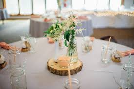 centerpieces wood slices for wedding centerpieces where to buy emmaline bride